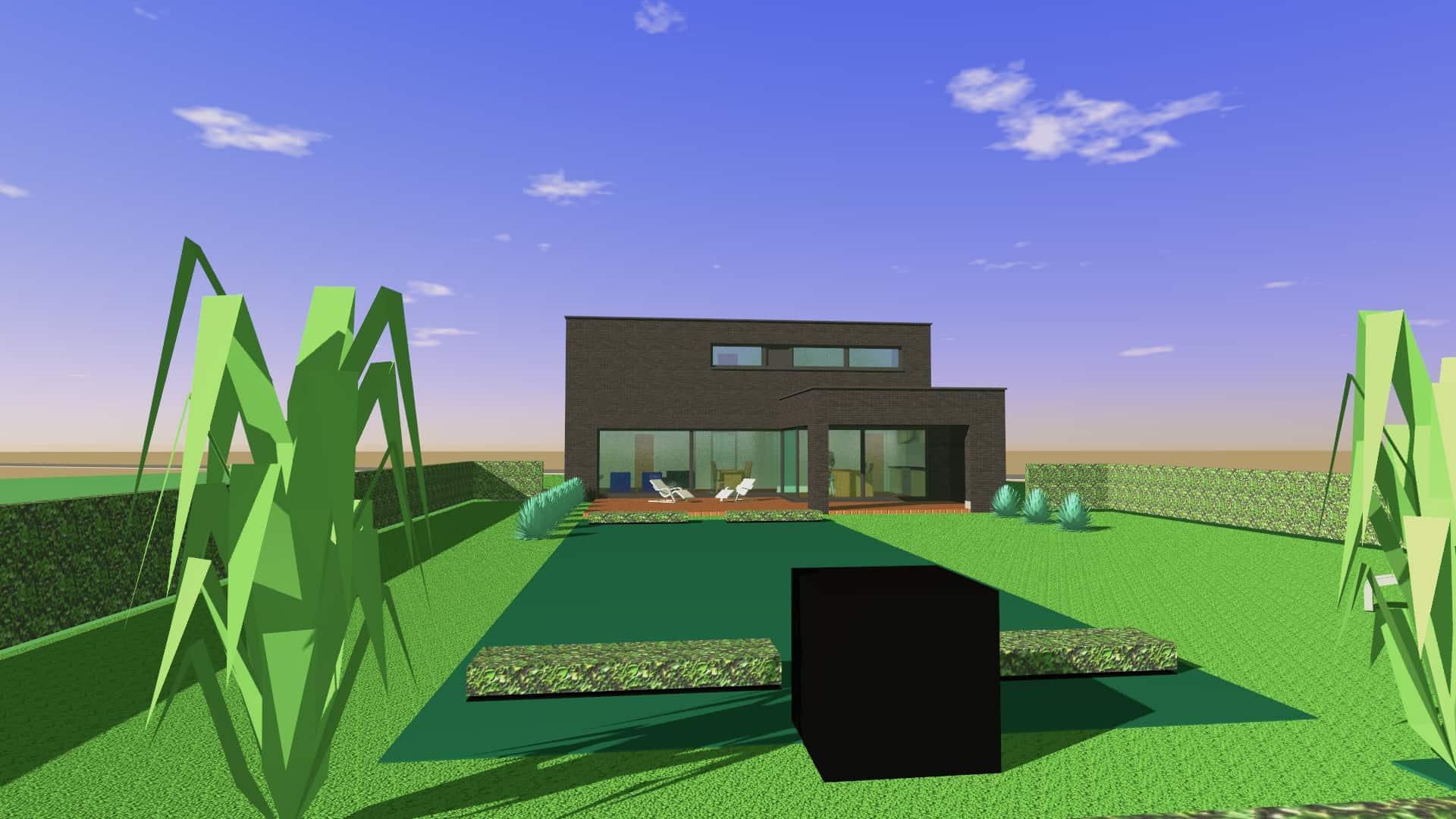 Detail afbeelding 2 van V & S   –   Strakke zwarte woning   –   Zutendaal | Ontwerp door architect Patrick Strackx