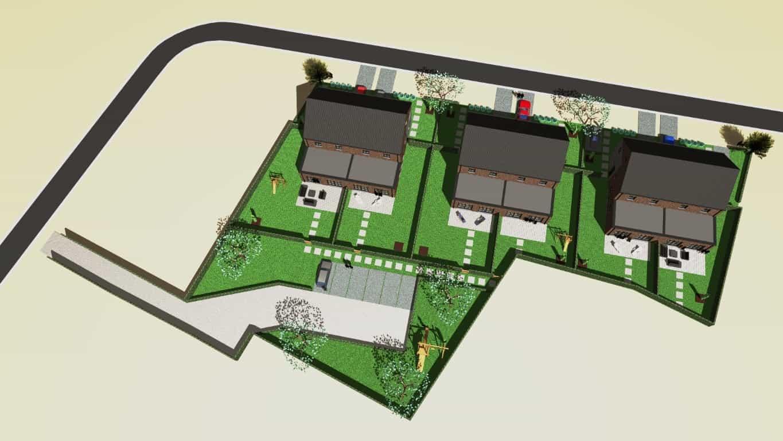 Detail afbeelding 6 van WATERSTRAAT & HELMSTEEG   –   12 pastorij woningen   –    Beringen | Ontwerp door architect Patrick Strackx
