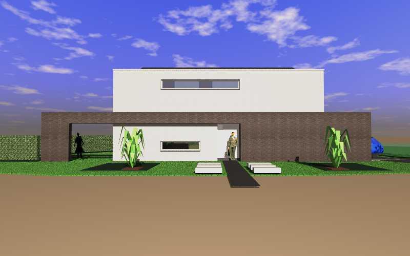 Detail afbeelding 6 van C   –   Zeer strakke Woning   –   Zutendaal | Ontwerp door architect Patrick Strackx