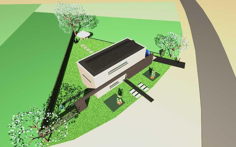 Detail afbeelding 4 van C   –   Zeer strakke Woning   –   Zutendaal   Ontwerp door architect Patrick Strackx