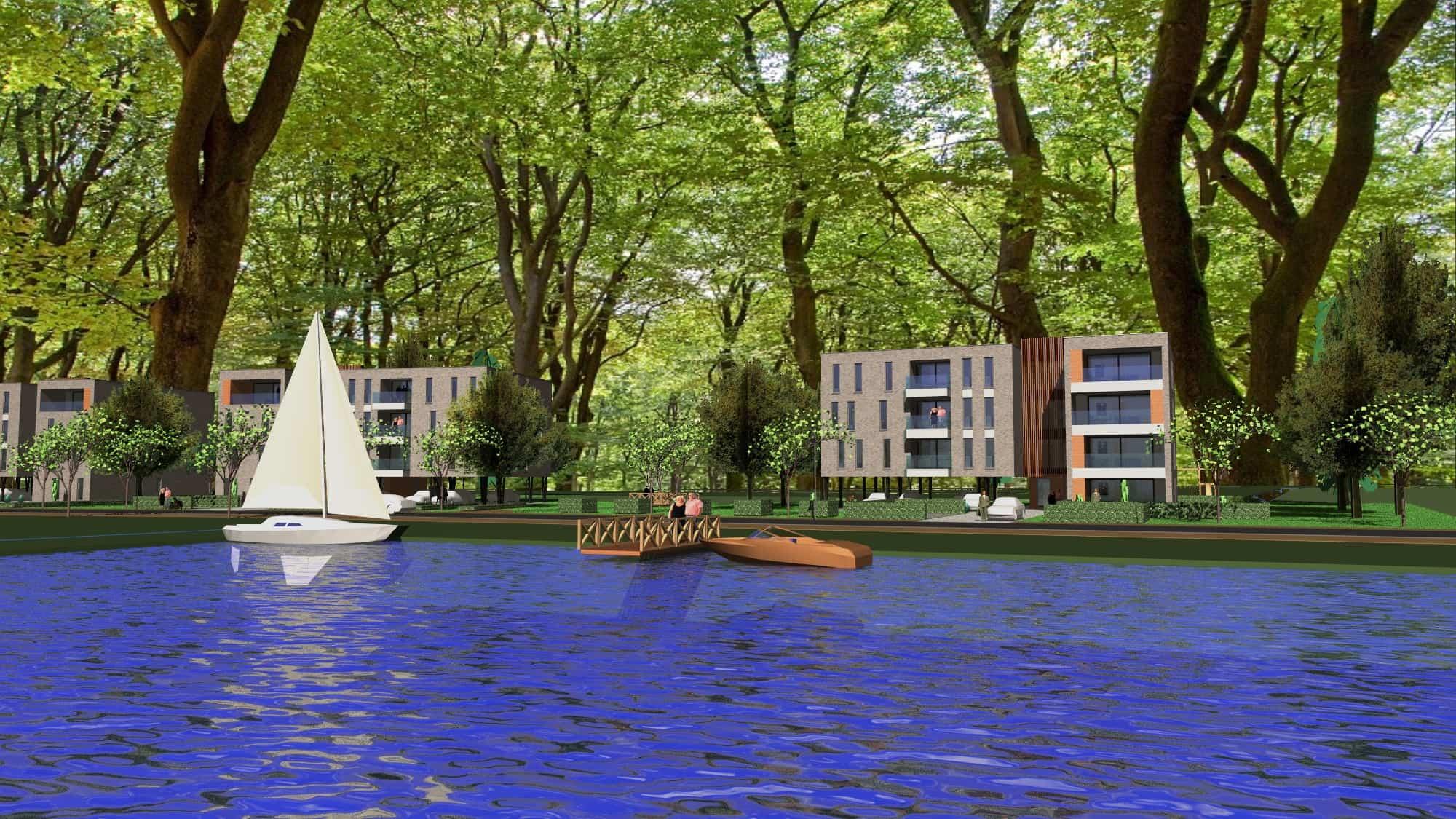 Detail afbeelding 1 van VO – BE   –   48 Appartementen tussen de bomen   –   Zonhoven | Ontwerp door architect Patrick Strackx