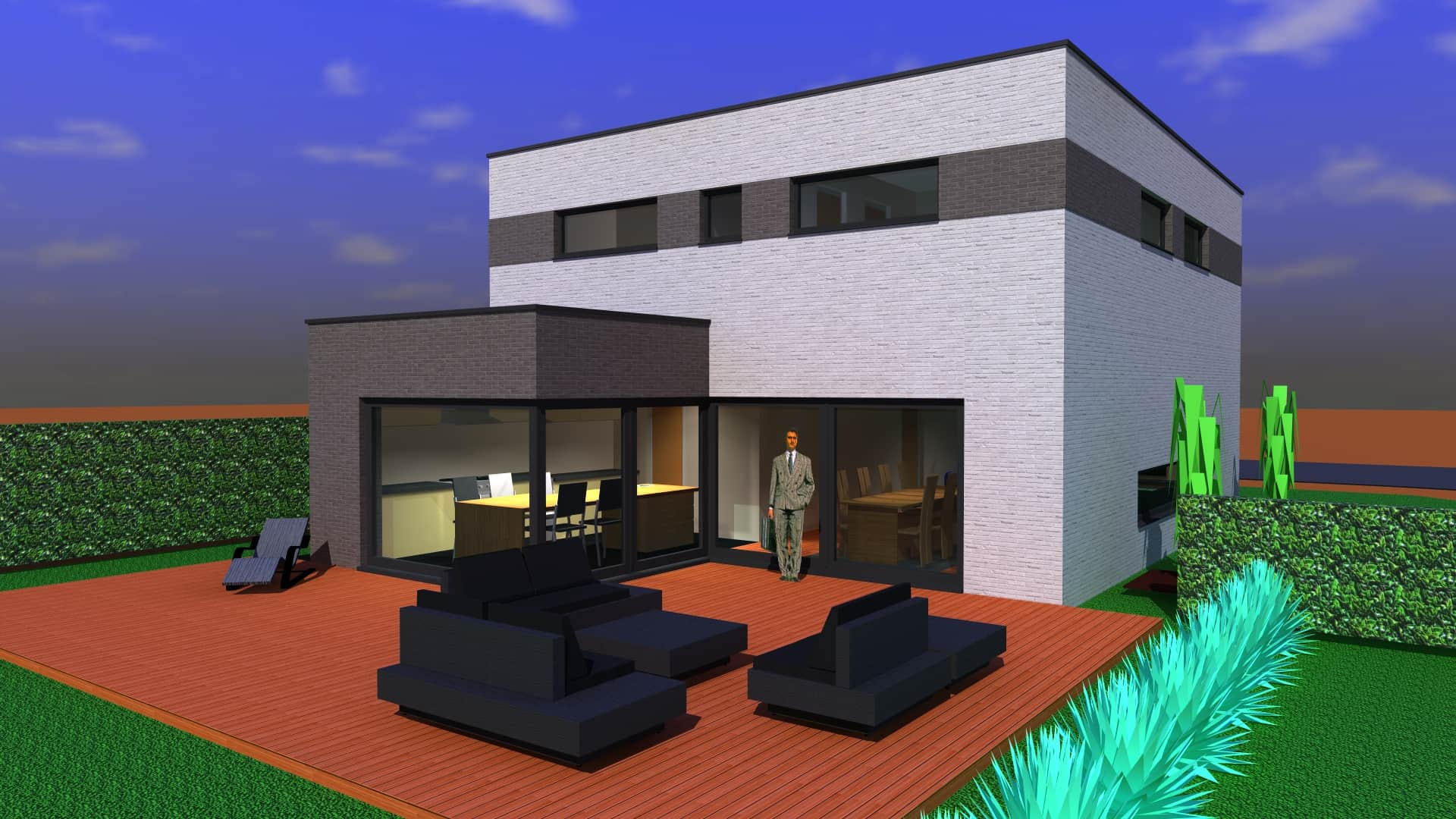 Detail afbeelding 3 van M & L   –   Strakke eenvoudige Gezinswoning – Zutendaal | Ontwerp door architect Patrick Strackx