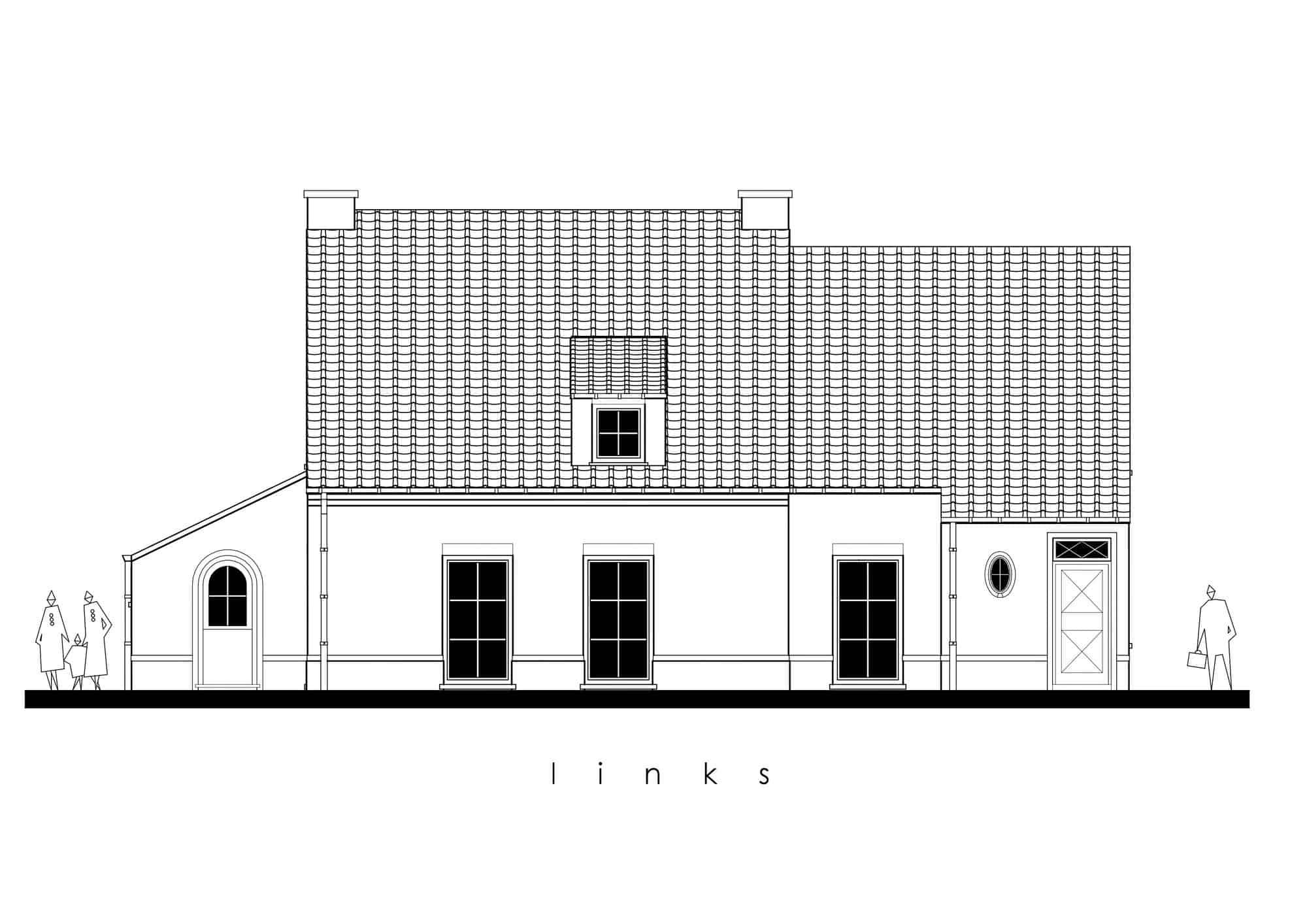 Detail afbeelding 4 van N&S   –   Pastorij met Kiné-praktijk   –   Peer | Ontwerp door architect Patrick Strackx