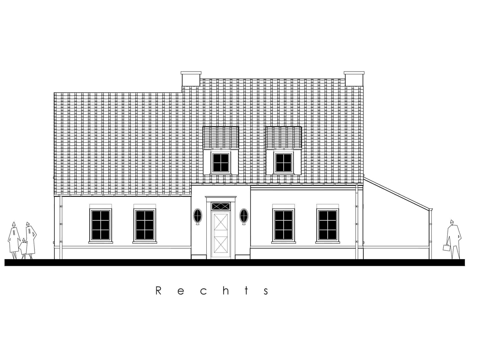 Detail afbeelding 5 van N&S   –   Pastorij met Kiné-praktijk   –   Peer | Ontwerp door architect Patrick Strackx