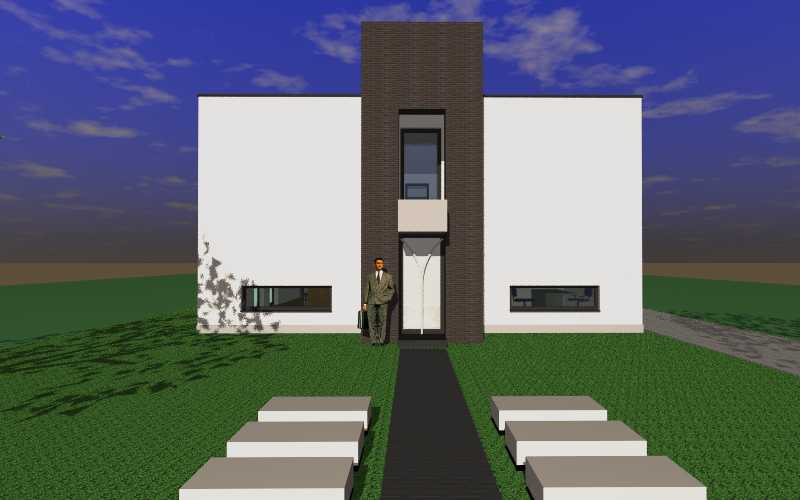 Detail afbeelding 6 van R & W   –   Strakke Accent Woning   –   Rekem | Ontwerp door architect Patrick Strackx